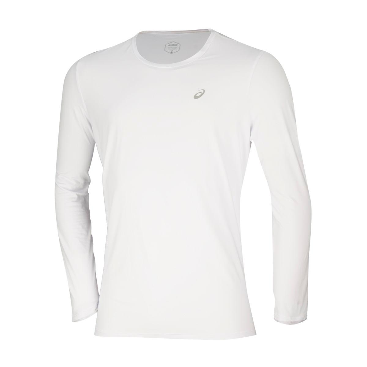 Camiseta-Asics-Running-Core-Manga-Longa---Masculina---Branca