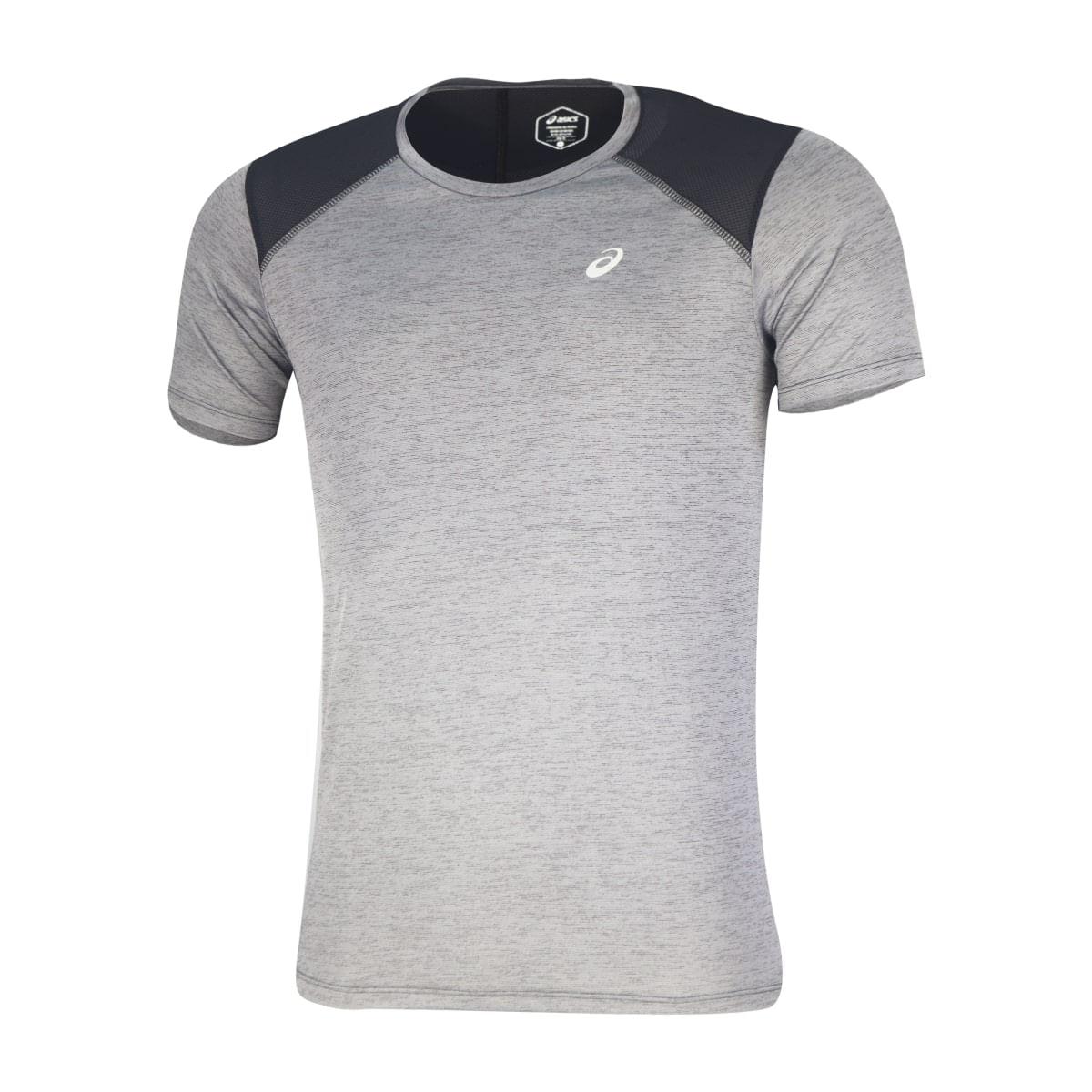 Camiseta-Asics-Running-Blend----Masculina---Cinza