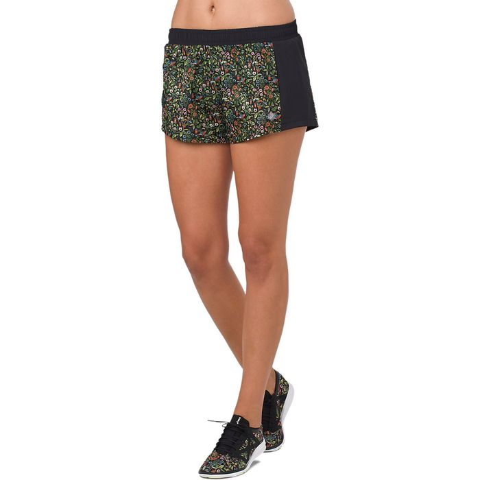 Shorts-Asics-2-IN-1---Feminino---Preto-e-Verde