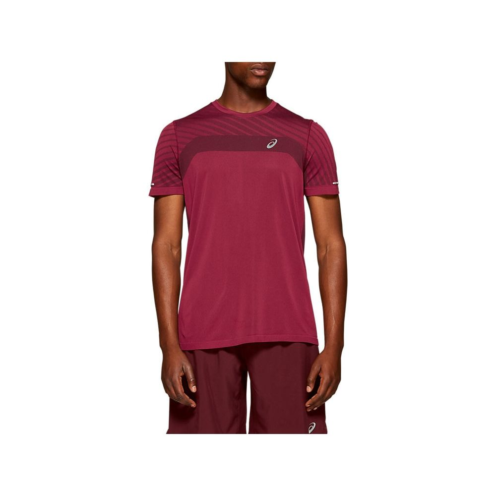 Camiseta-Asics-Seamless-SS-Texture---Masculino---Vermelho