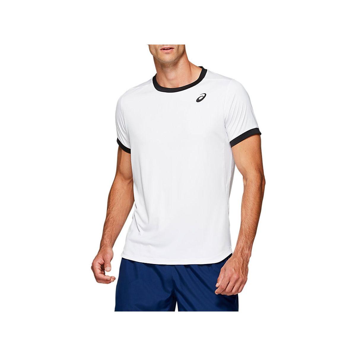 Camiseta-Asics-Club-com-Mangas-Curtas---Feminino---Branco