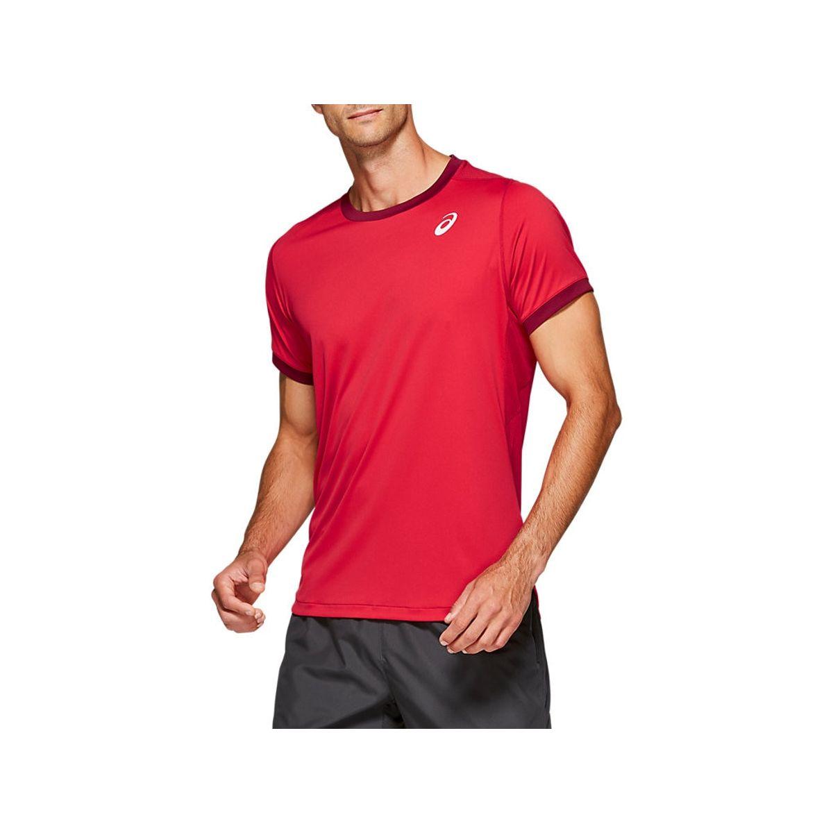 Camiseta-Asics-Short-Sleeve---Masculino---Vermelho