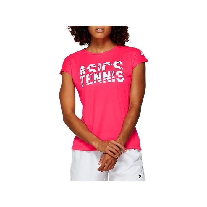 Camiseta-Asics-Short-Sleeve---Feminino---Rosa