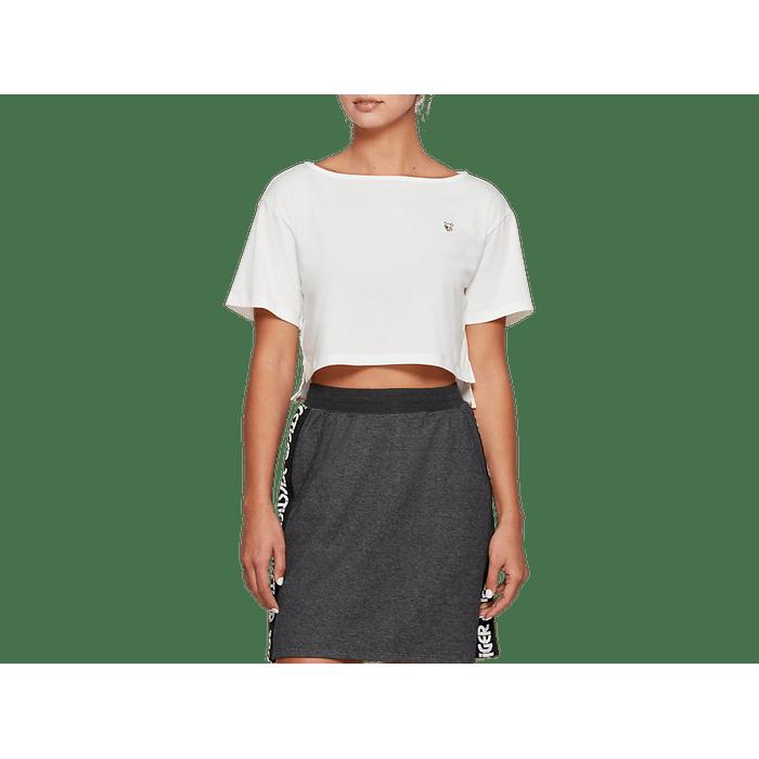 Camiseta-Asics-Short-Sleeve---Feminino---Creme