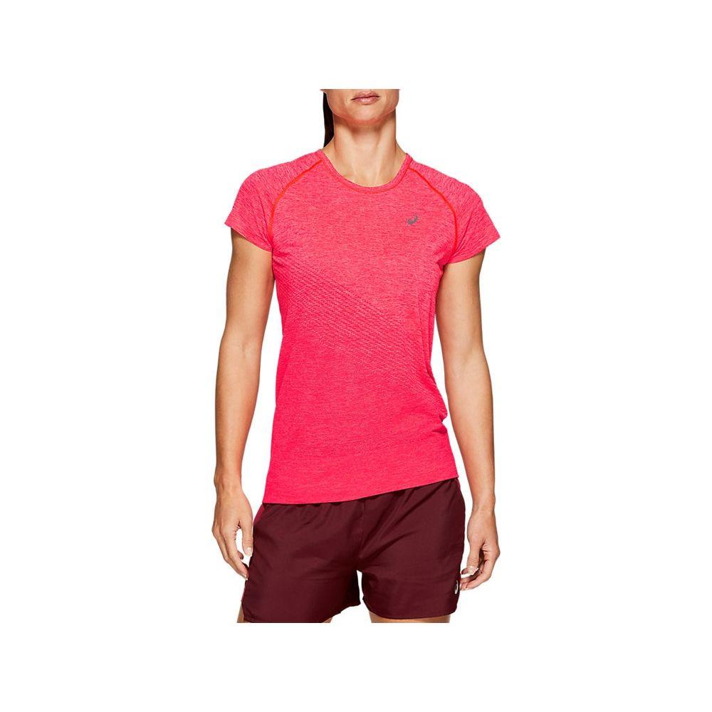 Camiseta-Asics-Seamless-SS-Texture---Feminino---Rosa