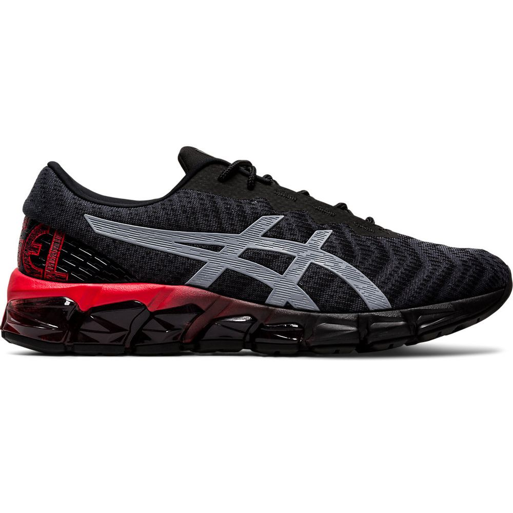 Tenis-Asics-GEL-Quantum-180-5---Masculino---Preto-com-Cinza-e-Vermelho