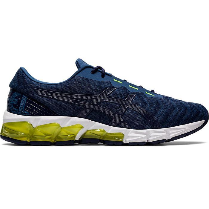 Tenis-Asics-GEL-Quantum-180-5---Masculino---Azul-Marinho-com-Branco-e-Amarelo