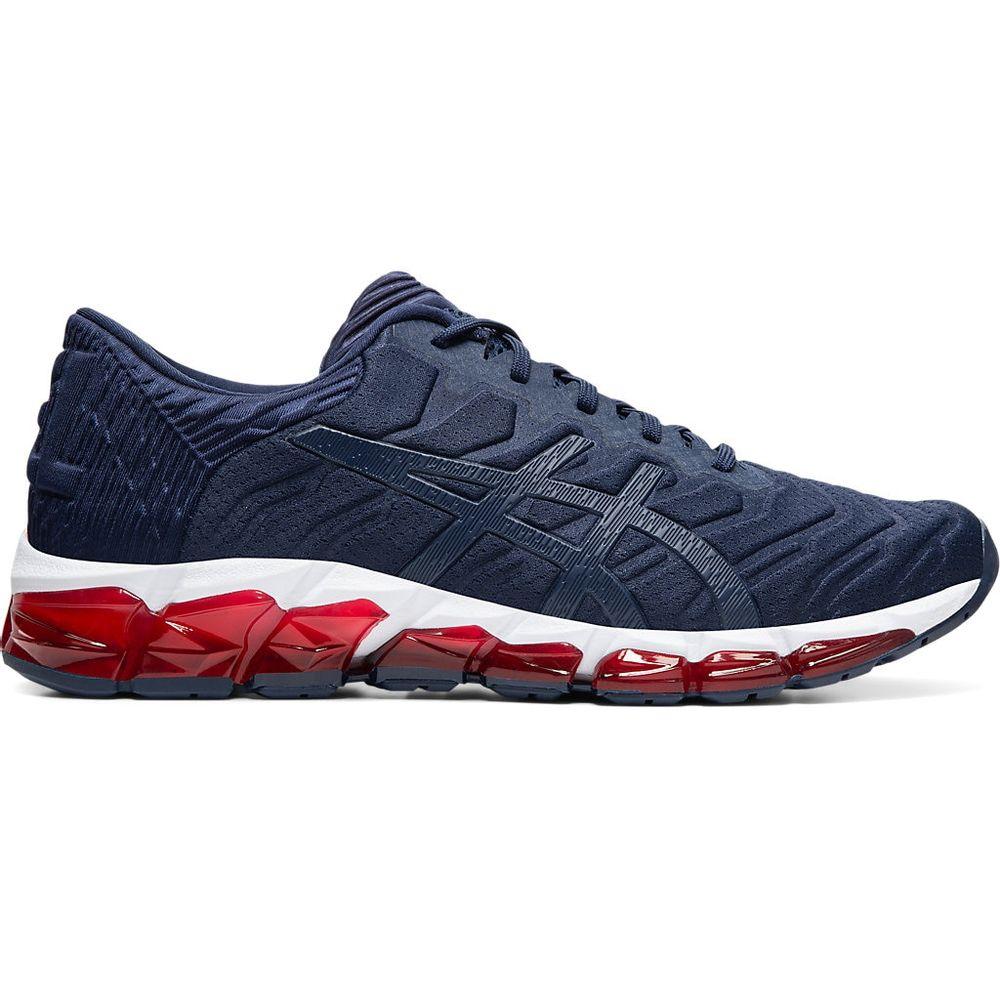 Tenis-Asics-GEL-Quantum-360-5----Masculino---Azul-Marinho-com-Branco-e-Vermelho