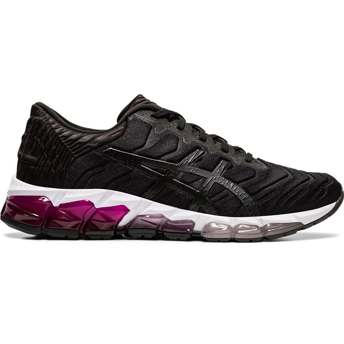 Tenis-Asics-GEL-Quantum-360-5----Feminino---Preto-com-Branco-e-Rosa