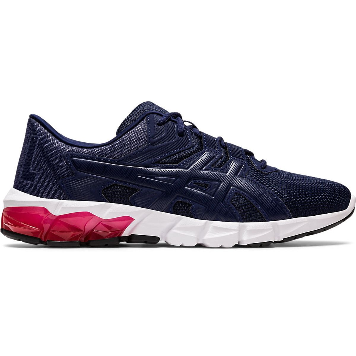 Tenis-Asics-GEL-Quantum-90-2---Masculino---Azul-Marinho-com-Branco-e-Rosa