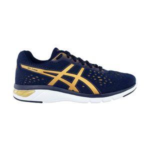 Tenis-Asics-GEL-Kamo---Masculino---Azul-Marinho-com-Branco-e-Dourado