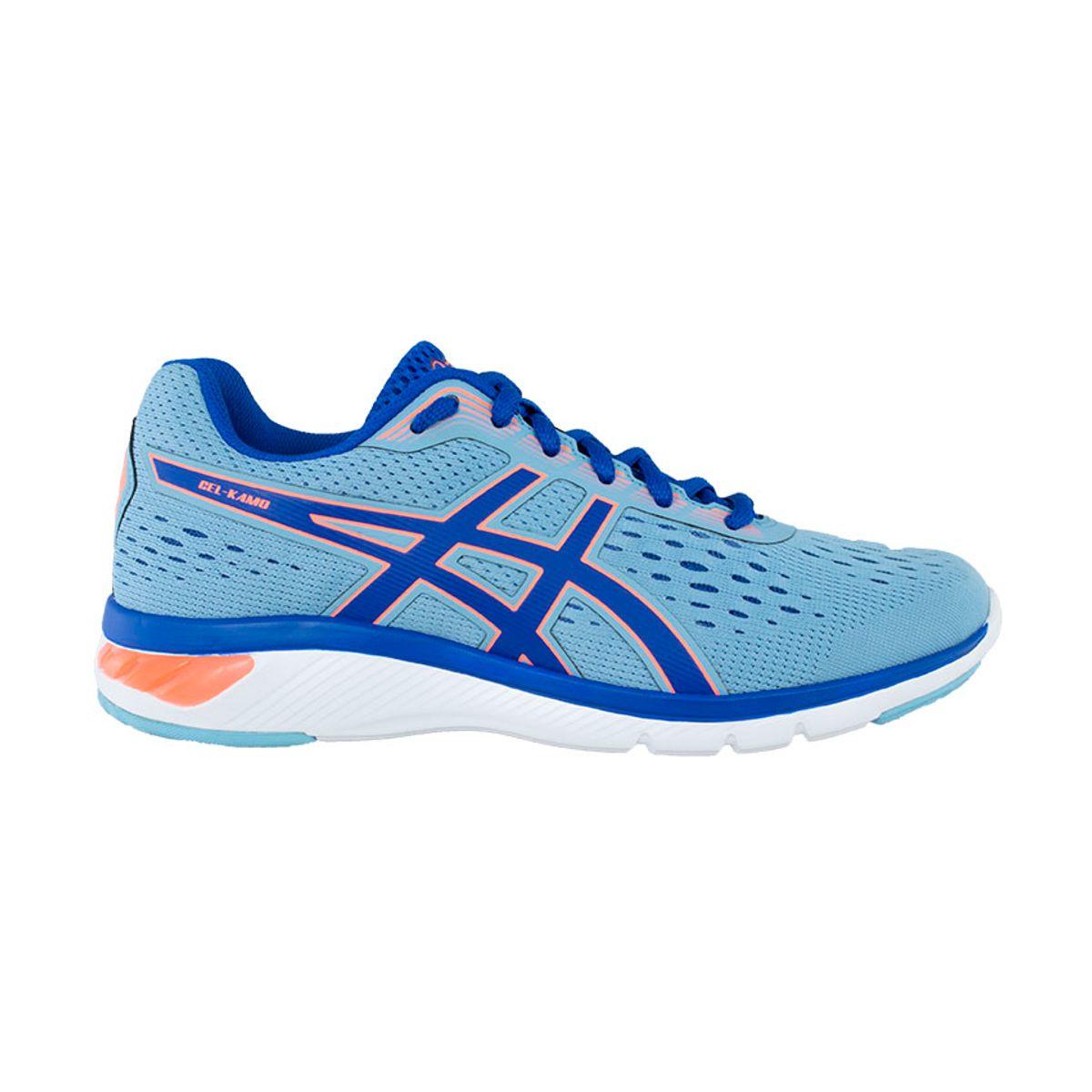 Tenis-Asics-GEL-Kamo---Feminino---Azul-com-Azul-Marinho-e-Branco