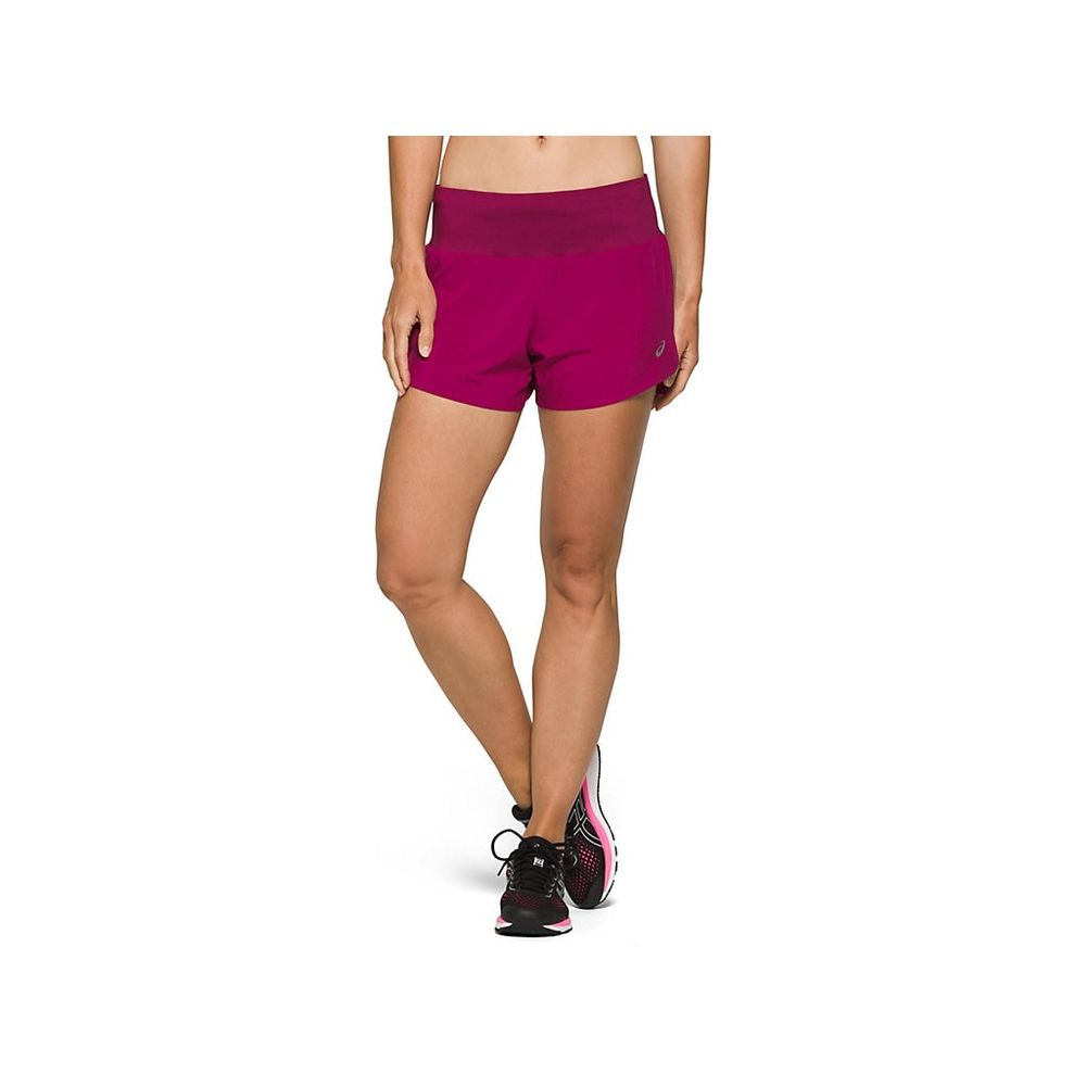 Short-ASICS-Road-3.5IN-Performance---Vinho---Feminino