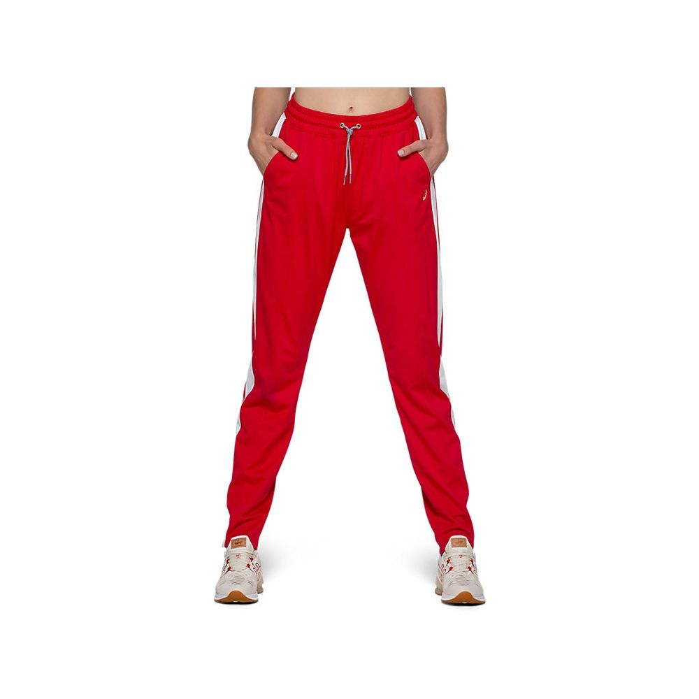 Calca-ASICS-Tokyo-Warm-Up-Jogger---Vermelho-e-Branco---Feminino