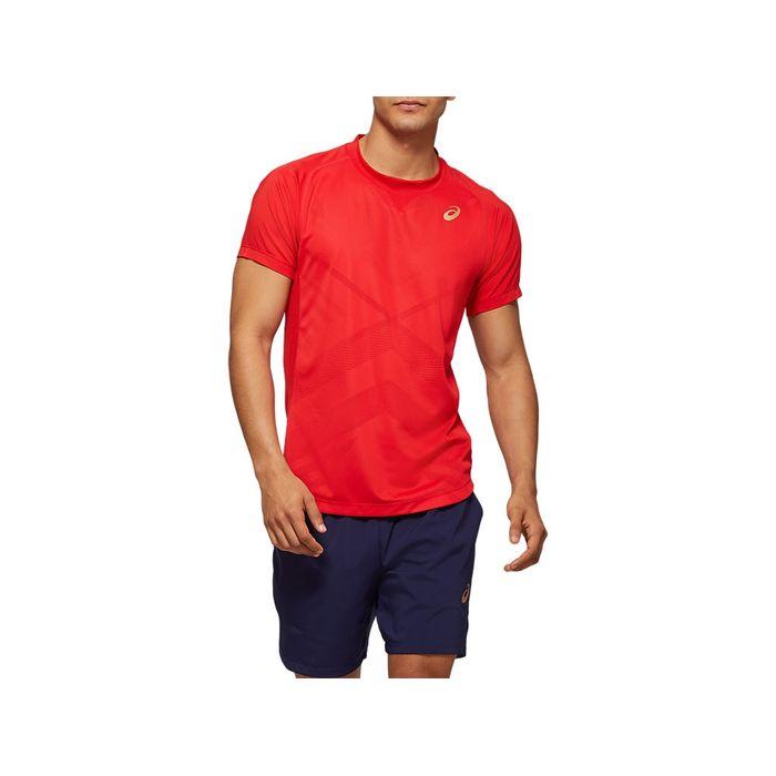 Camiseta-ASICS-Tennis---Vermelho---Masculino