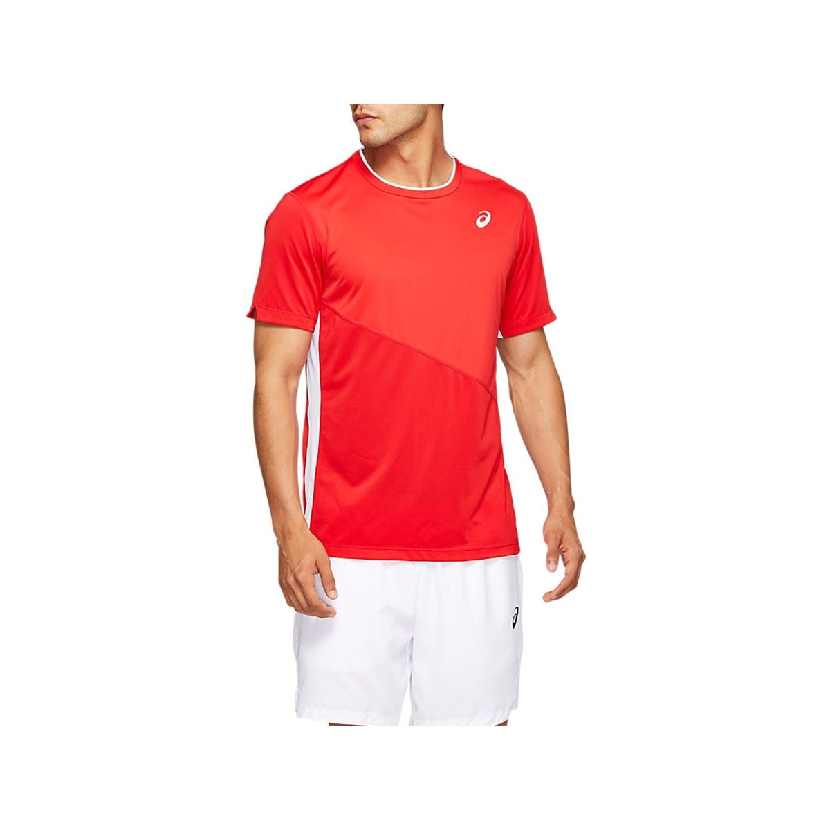Camiseta-ASICS-Club---Vermelho---Masculino