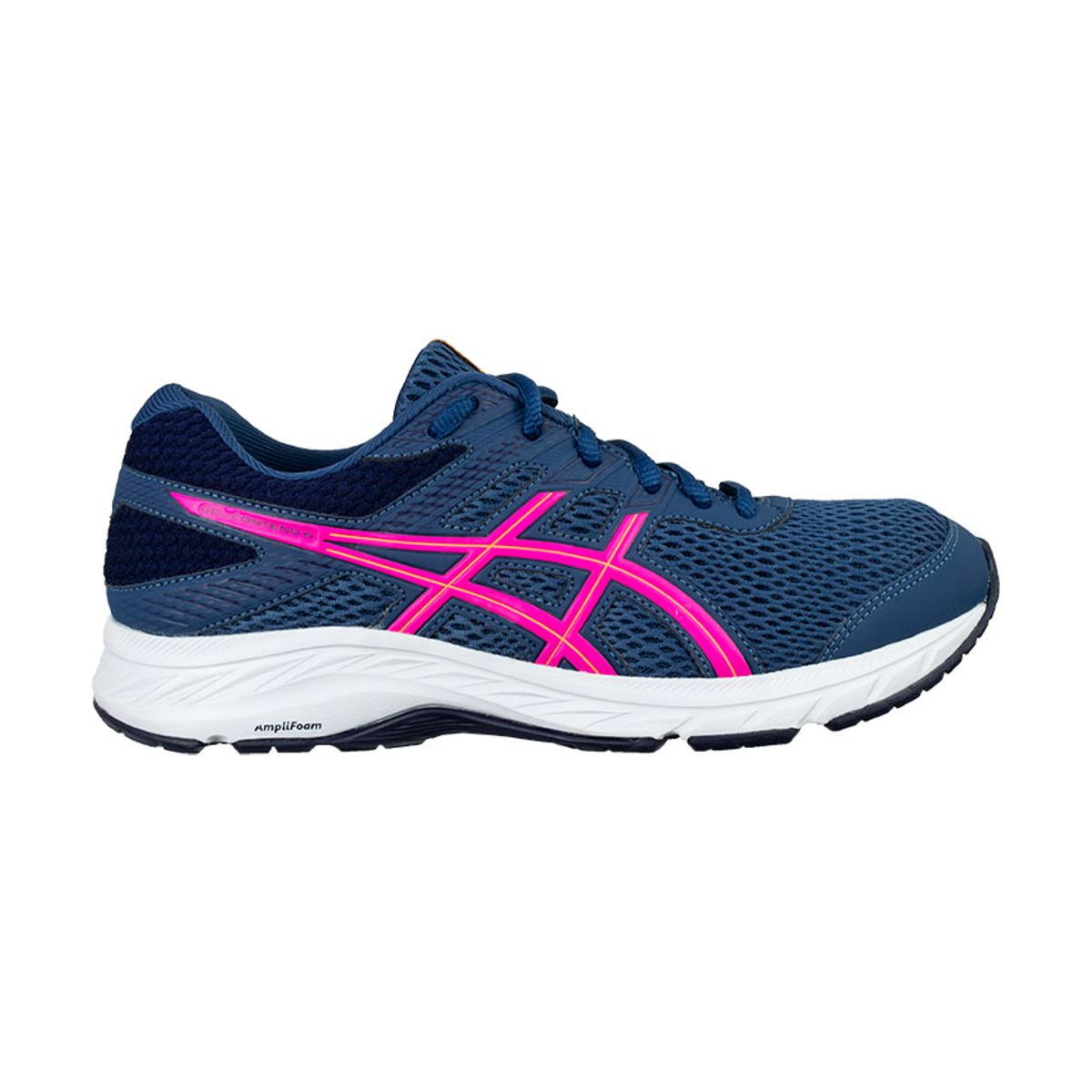 Tenis-Asics-GEL-Contend-6---Feminino---Azul-Marinho-com-Branco-e-Rosa