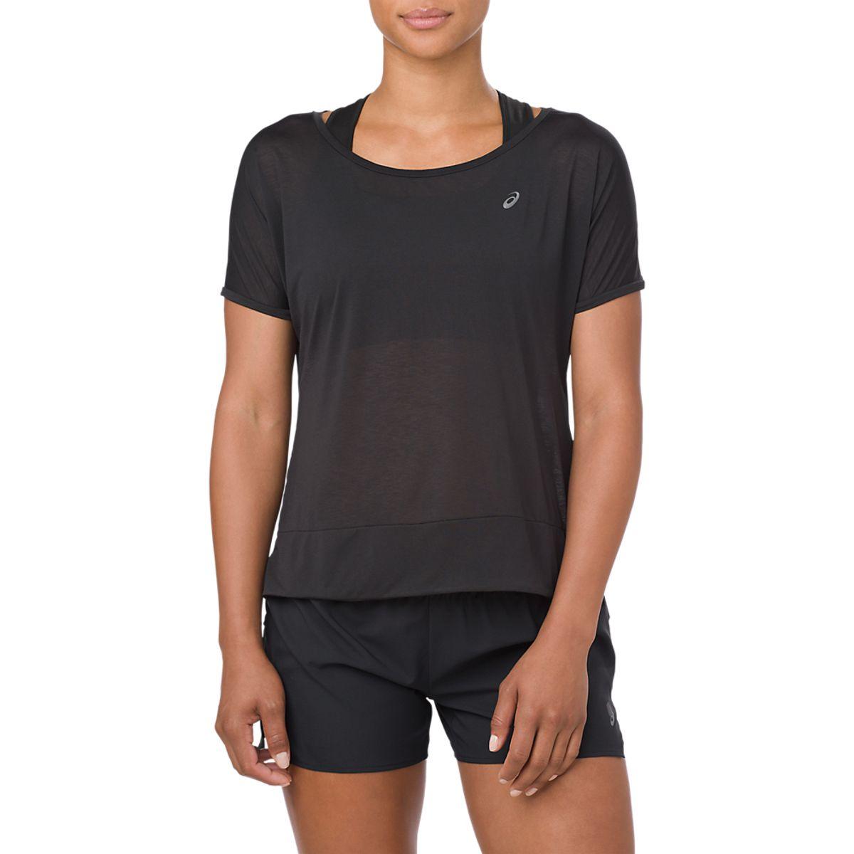 Camiseta-Asics-Crop-Top-de-Mangas-Curtas---Feminino---Preto