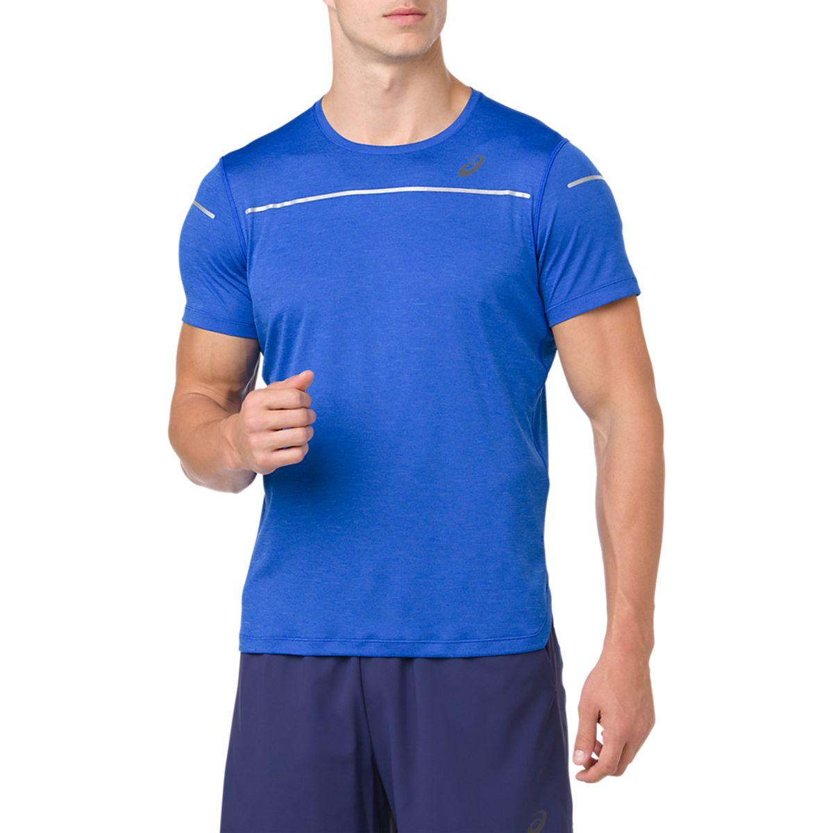 Camiseta-Asics-Lite-Show-de-Manga-Curta---Masculino---Azul