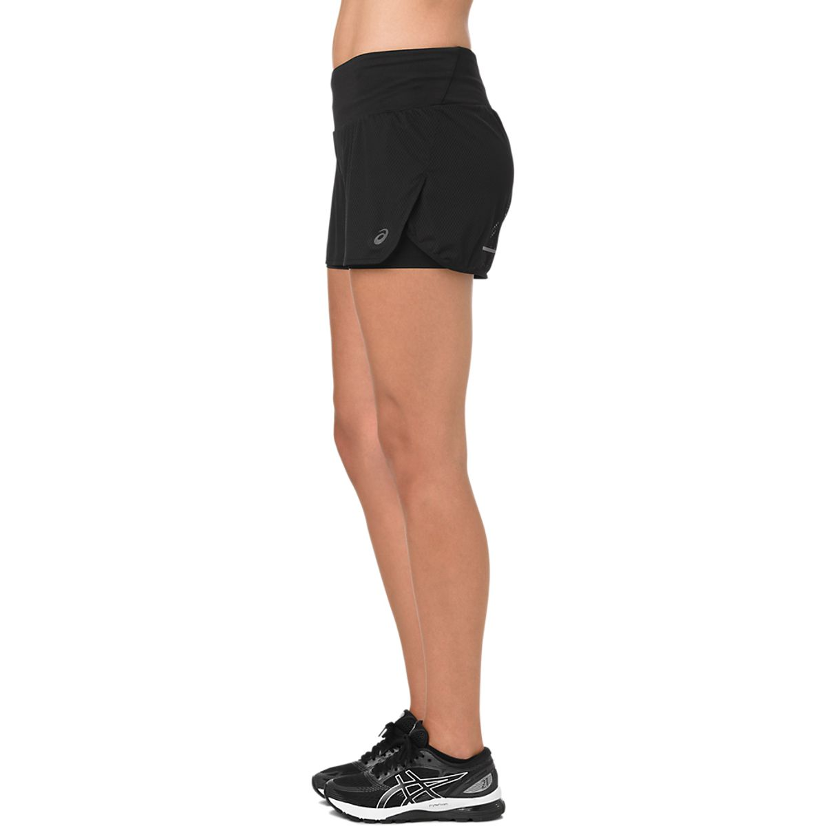 Short-Asics-Cool-2in1---Feminino---Preto