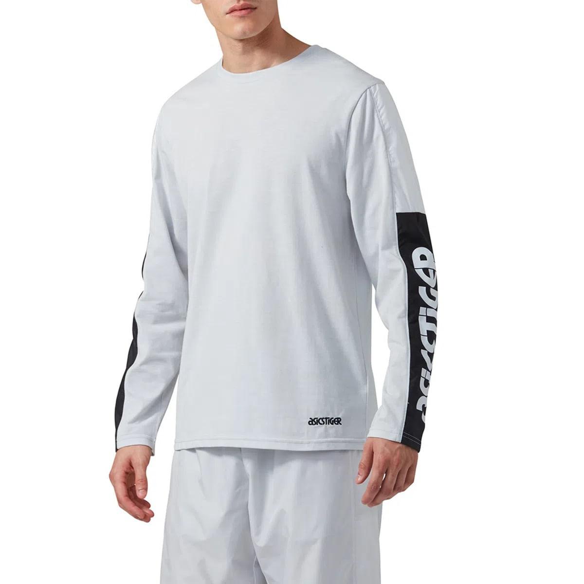 Camiseta-Asics-Long-Sleeve---Masculino---Cinza