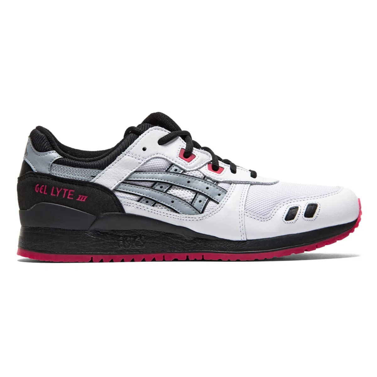 Tenis-ASICS-Tiger-GEL-Lyte-III---Unissex---Preto-e-Branco