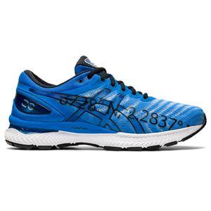 Tenis-ASICS-GEL-Nimbus-22-Maratona-de-Paris---Masculino---Azul-com-Branco