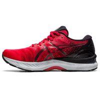 Tenis-ASICS-GEL-Nimbus-23---Masculino---Vermelho-e-Preto-maximo-conforto-e-alta-tecnologia-va-mais-longe-em-suas-corridas.-Confira-esse-e-outros-modelos-